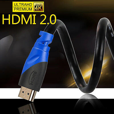 $ CDN13.83 • Buy LOT 1.5FT-50FT 4K@60Hz HDMI 2.0 Cable HDR UHD 4:4:4 -HDCP 2.2 18Gbps 26AWG CL 3