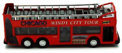 $ CDN11.77 • Buy Chicago Sightseeing Double Decker Bus Open Top Red 6 Inch Scale Model Diecast