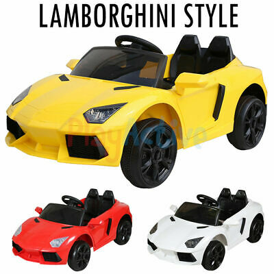 Ride On 12v Lamborghini Style Kids Electric Battery Remote Control 2.4g Toy Car • 99.99£