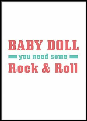 £3.49 • Buy Baby Doll You Need Some Rock And Roll, Abstract Wall Art, Nordic Art Poster