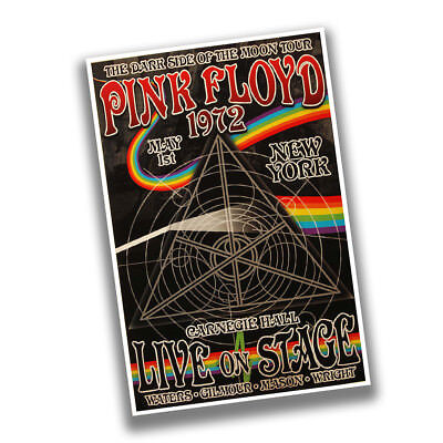 $19.95 • Buy 1972 Pink Floyd New York Carnegie Hall Live On Stage Reproduction Concert Poster