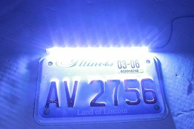 $10.95 • Buy Super Bright White LED Rear Taillight License Plate Light Lamp Motorcycle Scout