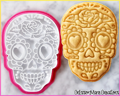 AU10 • Buy Sugar Skull Day Of The Dead Cookie Cutter Baking Fondant Tool Ceramics Pottery