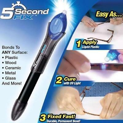 $ CDN10.74 • Buy Laser Bond 5 Second Rapid Fix UV Light Repair Cure Tool Glue Liquid Plastic