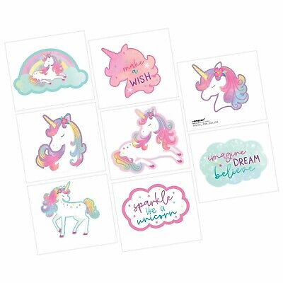AU4.50 • Buy Unicorn Party Supplies Favours TATTOOS Sheet