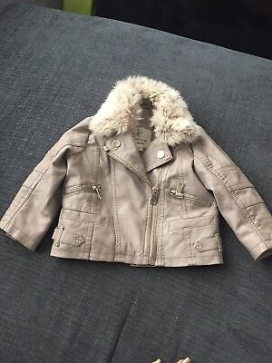 River Island Leather Jacket 6-9months • 15£