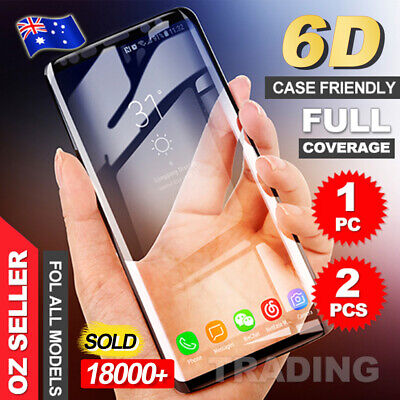 AU5.95 • Buy Galaxy S9Plus S10 5G Note9 S10e Full Tempered Glass Screen Protector For Samsung