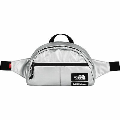 $ CDN414.65 • Buy Supreme X The North Face Waist Bag Metallic Silver SS18 TNF Chrome CONFIRMED