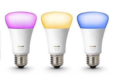AU100 • Buy Philips Hue 3rd Generation Richer Colours 9W E27 Bulb FREE POST