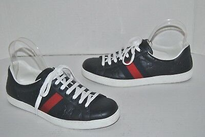 9c202da81 Gucci Ace Men's Signature Gg Guccissima Web Sneakers Shoes 6 G/ 7 Us •  449.99