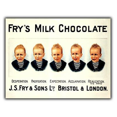 £4.95 • Buy FRY's CHOCOLATE 5 BOYS Vintage Advert SIGN METAL WALL PLAQUE Picture Print