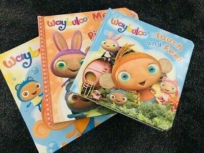 Waybuloo Books Collection -3 Books SET- Touch And Feel Waybuloo Board Books NEW • 15.90£