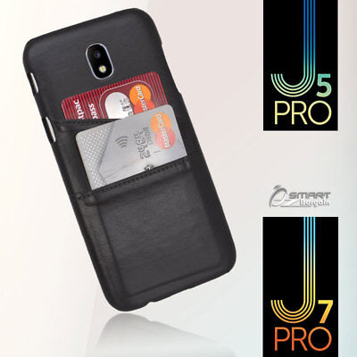 AU5.99 • Buy PU Leather Card Holder Wallet Back Case Cover For Samsung Galaxy J5 Pro / J530
