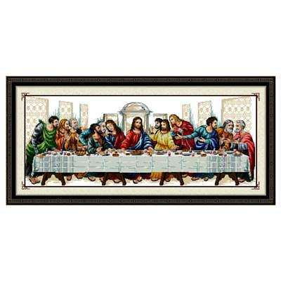 DIY Needlework Handmade  Cross Stitch Kits 'The Last Supper' Easter Home Decor • 7.14£