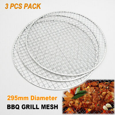 AU17.95 • Buy 3x BBQ Steel Grill Mesh Fish Meat Net Barbecue Camping Outdoor Mat Clamp 29.5cm