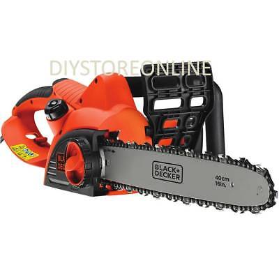 Black Decker 2000w Corded Electric Chainsaw 40cm Cutting Power Tool • 175£
