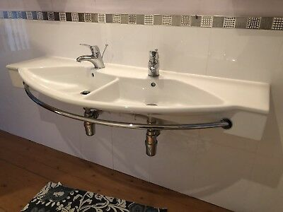 £500 • Buy Laufen Dual Sink With Towel Rail + Mirror And Cabinets (see Photos)