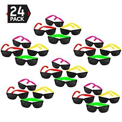 24pk Neon Pool Party Sunglasses Beach Prop Graduation Luau 80s Party Favors LOT • 8.60£