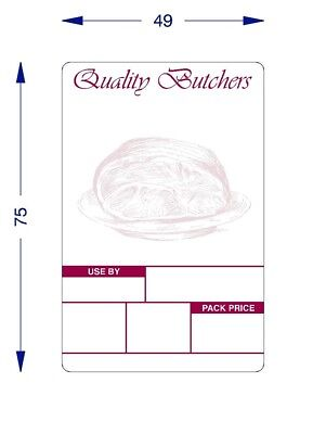 £44.99 • Buy Avery Scale Labels For Butchers ,Thermal Labels 49 X 75 Printed [ 16 Rolls ]