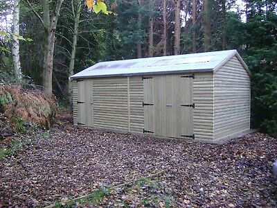 £2806.30 • Buy 16 X 10 HEAVY DUTY SHED PRESSURE TREATED TANALISED WORK SHOP GARDEN WOODEN SHED