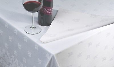 **CLEARANCE** Tablecloth | 100% Cotton | Ivyleaf | White | Hotel | Restaurant • 8.50£