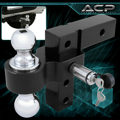2  Black Trailer Receiver Truck Rv 6  Drop Adjustable Aluminum Hitch Tow Towing • 76.99$