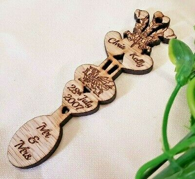 £3 • Buy 3 X Personalised Wedding Favour Welsh Love Spoons Samples £1 Each Craft Lasered