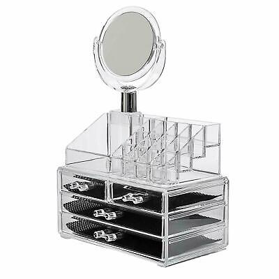 £13.99 • Buy Cosmetic Make Up Display Jewellery Organiser Clear Acrylic Storage Stand Draw UK