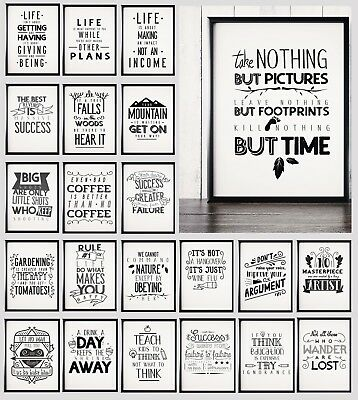 £6.85 • Buy Motivational Poster , Inspirational Prints, Funny Wall Art Typography Home Decor