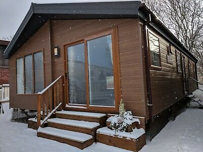 NEW Sunrise Lodge II | 40x20 Residential Mobile Log Cabin | Perfect Granny Annex • 76,995£
