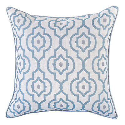 AU64.95 • Buy Mendoza Turquoise Cushion Cover With Piping Trim
