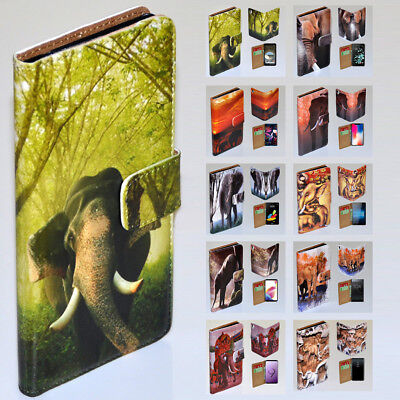 AU14.98 • Buy For Sony Xperia Series - Elephant Theme Print Wallet Mobile Phone Case Cover