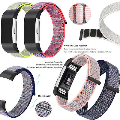 AU7.95 • Buy Sports Hook And Loop Nylon Wrist Band Strap Bracelet For Fitbit Charge 2 Tracker