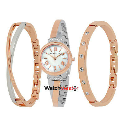 d5b70b6a0 Anne Klein Mother Of Pearl Ladies Watch And Bracelet Set 2245RTST • 97.99$
