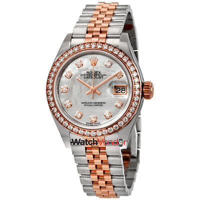 $ CDN29647.99 • Buy Rolex Lady Datejust Mother Of Pearl Steel And 18K Everose Gold Watch 279381MDJ