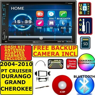 $229.99 • Buy 04-10 Pt Cruiser Durango Grand Cherokee Bluetooth Cd/dvd Sd Aux Usb Car Stereo