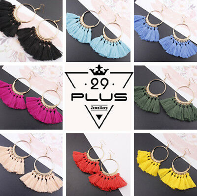 AU3.89 • Buy Fashion Women Bohemian Ethnic Tassel Dangle Hook Drop Boho Earring Jewelry AU