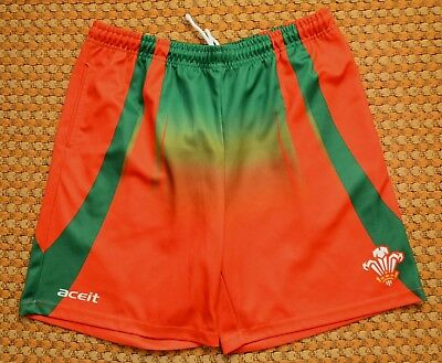 £23 • Buy Wales, Mens Home Rugby Shorts By Aceit, Mens Medium