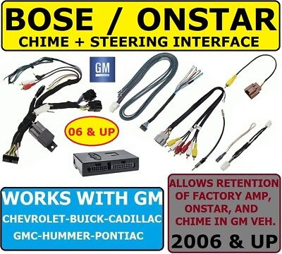 $99.99 • Buy Bose-onstar-amp-swc Adapter For 2006 &up Gm Car Stereo Radio Module Installation