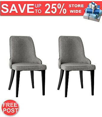AU152.82 • Buy Artiss Set Of 2 Fabric Dining Chairs - Grey