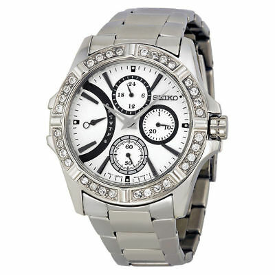 $ CDN242.25 • Buy New Women's Seiko Stainless Steel Lord Swarovski Crystals Multi-dial Srlz87p1