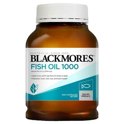 AU32.95 • Buy Blackmores Fish Oil 1000mg 400 Capsules Fishoil Omega-3 DHA Dietary Supplements