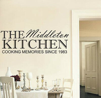 £13.89 • Buy Personalised Family Kitchen Wall Art Sticker, Any Name