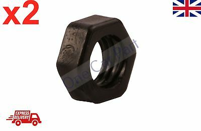 2x 8mm BLACK NYLON PLASTIC FULL NUTS FOR M8 SCREWS AND BOLTS NEW PACK • 1.70£