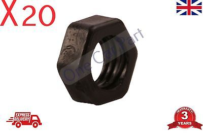20 X 8mm BLACK NYLON PLASTIC FULL NUTS FOR M8 SCREWS AND BOLTS • 2.91£