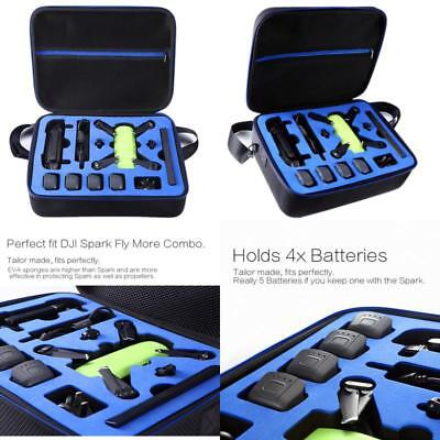 AU87.57 • Buy Dji Spark Drone Carrying Case By Doubi - Fit For 4 Drone Batteries, Remote Contr