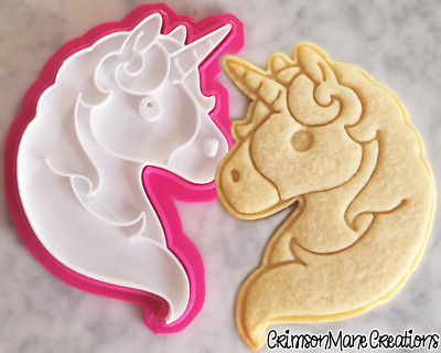 AU10 • Buy Unicorn Emoji Cookie Cutter Biscuit Stamp DIY Baking Ceramics And Pottery
