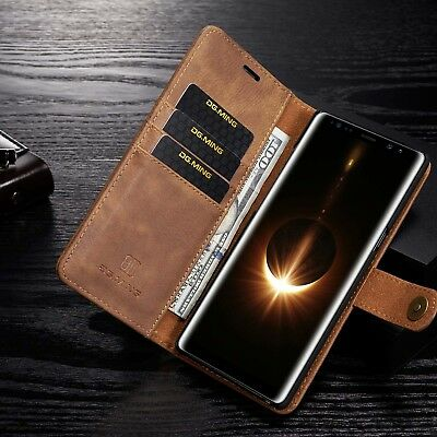 $ CDN24.99 • Buy New Samsung Galaxy Note 8/S8/S9 Heavy Duty Genuine Leather Flip Stand Case Cover