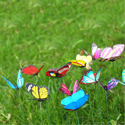 24Pcs Colorful Insects Butterfly Stakes On Metal Spring Garden Lawn Yard Decor • 1.99£