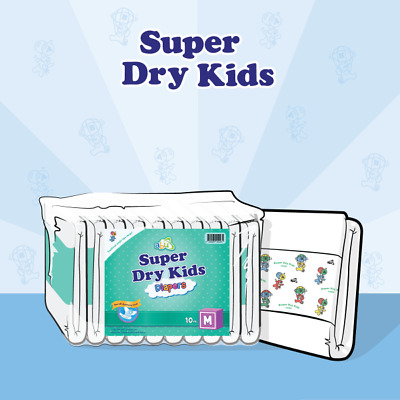 View Details ABUniverse ABU Super Dry Kids SDK Diapers - Pack Of 10 • 18.95£